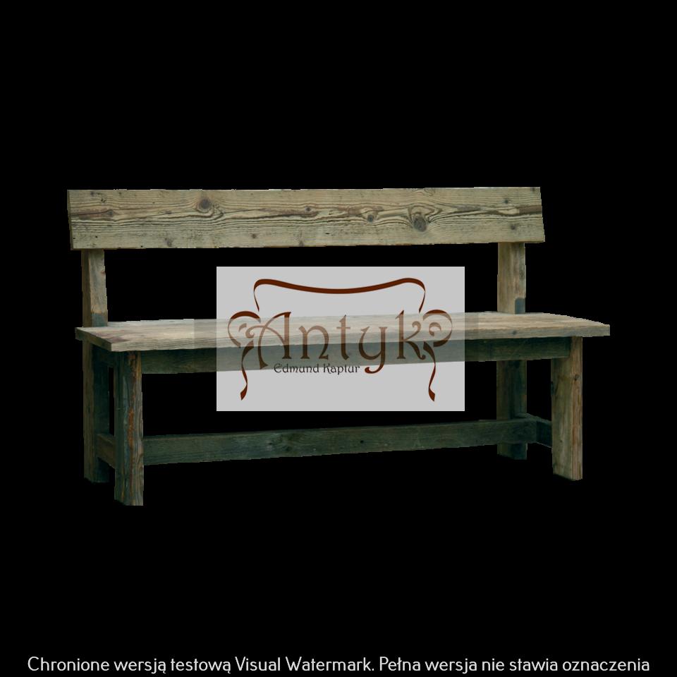 stara ławka z oparciem AMANDA S